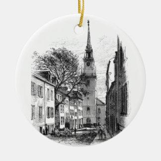 Ornamento del norte viejo de la iglesia ornamentos para reyes magos