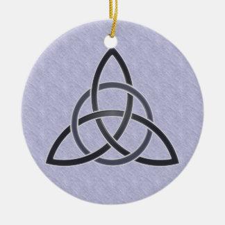 Ornamento del nudo de la trinidad del estaño ornamento para arbol de navidad