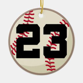 Ornamento del número 23 del jugador de béisbol ornamentos de navidad