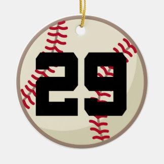 Ornamento del número 29 del jugador de béisbol ornamento para reyes magos
