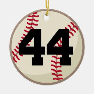 Ornamento del número 44 del jugador de béisbol ornaments para arbol de navidad