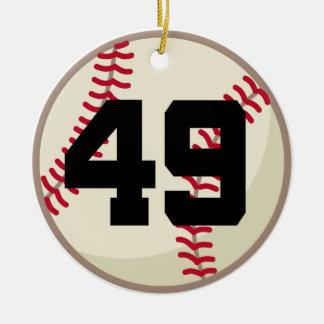 Ornamento del número 49 del jugador de béisbol adorno para reyes