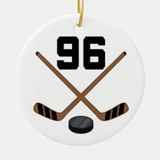 Ornamento del número 96 del jersey del jugador del ornamentos para reyes magos