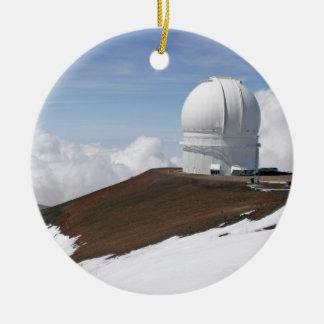 Ornamento del observatorio de Mauna Kea Adorno Navideño Redondo De Cerámica