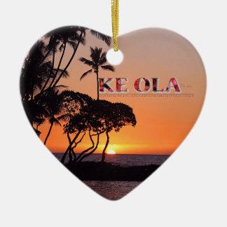 Ornamento del Ola de KE Adorno De Cerámica En Forma De Corazón