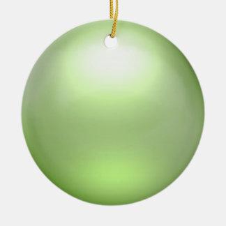 Ornamento del orbe de la cal ornaments para arbol de navidad