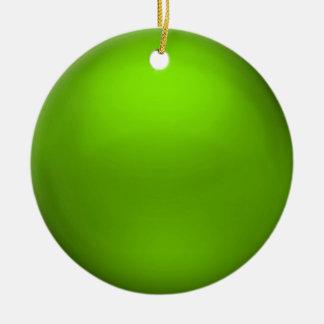 Ornamento del orbe de la cal del satén ornamento de navidad