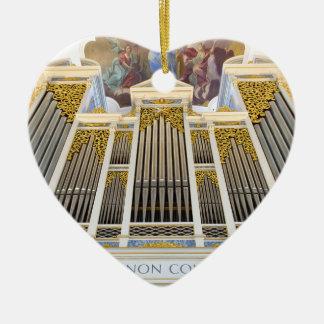 Ornamento del órgano de Dillingen Adorno Navideño De Cerámica En Forma De Corazón