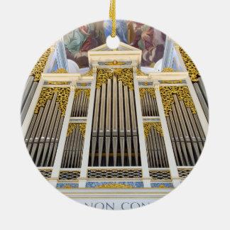 Ornamento del órgano de Dillingen Adorno Navideño Redondo De Cerámica