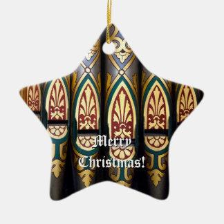Ornamento del órgano de las Felices Navidad Adorno Navideño De Cerámica En Forma De Estrella