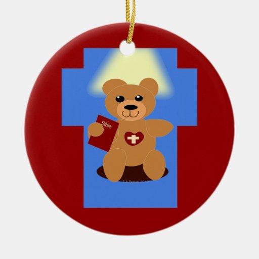 Ornamento del oso de la biblia ornamente de reyes