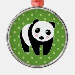 Ornamento del oso de panda adorno de navidad