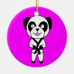 Ornamento del oso de panda de los artes marciales ornaments para arbol de navidad