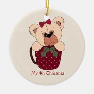 Ornamento del oso de peluche de las niñas adorno de navidad