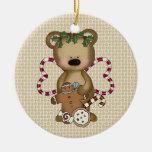 Ornamento del oso del bastón de caramelo del navid ornamento de navidad