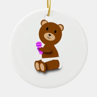 Ornamento del oso del bebé adorno de navidad
