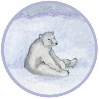 Ornamento del oso polar adorno fotoescultura