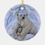 Ornamento del oso polar ornaments para arbol de navidad