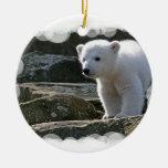 Ornamento del oso polar del bebé adorno para reyes