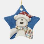 Ornamento del oso polar del día de fiesta adornos de navidad
