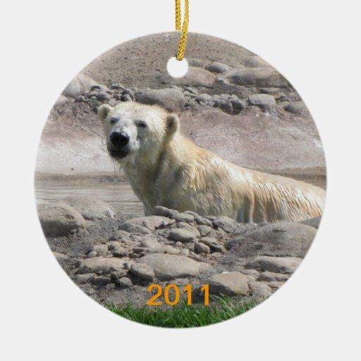 Ornamento del oso polar ornamente de reyes