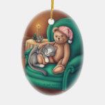 Ornamento del oso y del gato de peluche ornamento para reyes magos