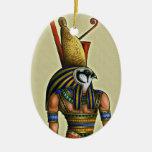 Ornamento del óvalo de Horus Adorno Navideño Ovalado De Cerámica
