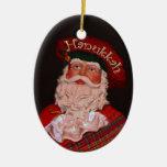 Ornamento del óvalo de Jánuca Papá Noel Adorno De Reyes