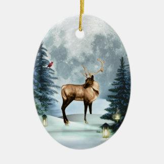 Ornamento del óvalo de la escena del invierno de ornamentos de navidad