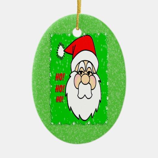 Ornamento del óvalo de Papá Noel Adorno Navideño Ovalado De Cerámica
