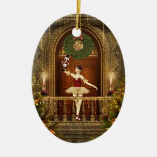 Ornamento del óvalo de Personlized del cascanueces Adorno Ovalado De Cerámica