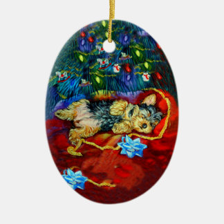 Ornamento del óvalo de Yorkshire Terrier Ornato