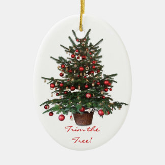 Ornamento del óvalo del navidad del árbol de adorno navideño ovalado de cerámica