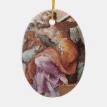 Ornamento del óvalo del panel de la capilla de Sis Ornamento Para Arbol De Navidad