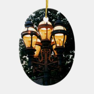 Ornamento del PA de Belén Adorno Navideño Ovalado De Cerámica