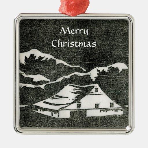 Ornamento del país de las maravillas del invierno ornamentos de navidad