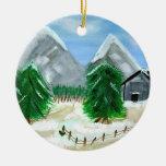 Ornamento del paisaje del invierno ornamente de reyes
