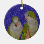 Ornamento del pájaro de los pares del loro del Qua Adornos De Navidad