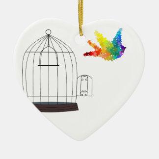 Ornamento del pájaro del rompecabezas de la adorno para reyes
