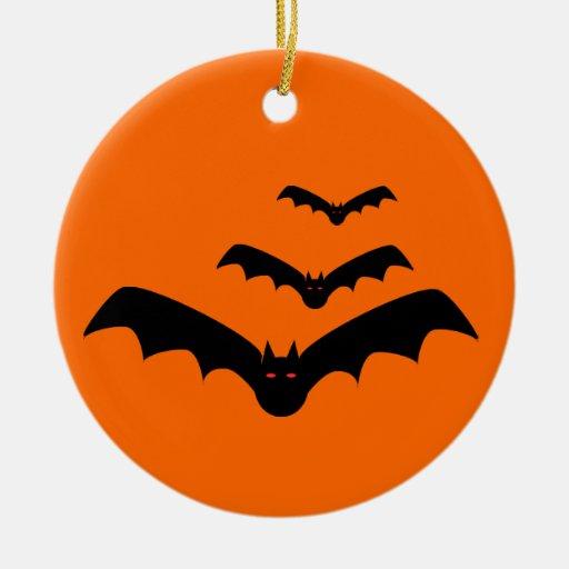 Ornamento del palo de Halloween Adorno Redondo De Cerámica