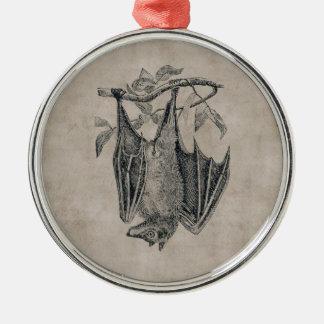 Ornamento del palo del vintage adorno navideño redondo de metal