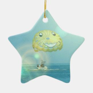 Ornamento del Parasailing Adorno Navideño De Cerámica En Forma De Estrella
