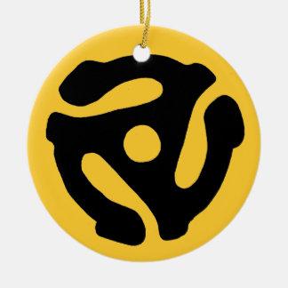 Ornamento del parte movible de 45 RPM Adorno Redondo De Cerámica