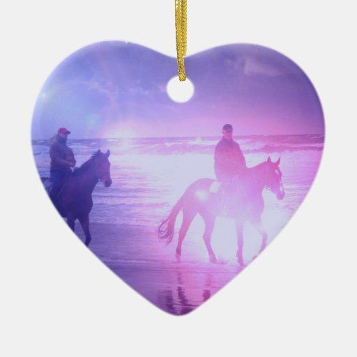 Ornamento del paseo de la playa del caballo adorno