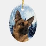 Ornamento del pastor alemán adornos de navidad