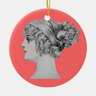 Ornamento del peinado del vintage ornamentos de navidad