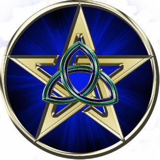 Ornamento del Pentagram de Triquetra Escultura Fotografica