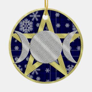 Ornamento del Pentagram del copo de nieve del navi Ornamentos De Reyes