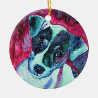 """Ornamento del perrito de Jack Russell Terrier - """"J Adorno Para Reyes"""