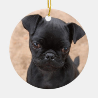 Ornamento del perrito del barro amasado adorno